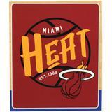 """The Northwest Company Miami Heat 50'' x 60'' Blacktop Raschel Plush Throw Blanket"""