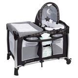 Baby Trend Bedside Crib w/ Mattress Metal in Black, Size 46.0 H x 30.7 W x 49.2 D in | Wayfair PY47C21H
