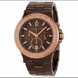 Michael Kors Accessories | Michael Kors Mk5518 Dylan Ceramic Watch | Color: Gold/Tan | Size: Os
