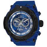 Invicta Men's Shaq Swiss Quartz Watch with Stainless Steel, Carbon Fiber Strap, Blue, 36 (Model: 33664)