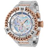 Invicta Men's Reserve HERC Swiss Quartz Watch with Stainless, Silicone Strap, Steel, Black, Blue, White, Rose Gold, 31 (Model: 33863)