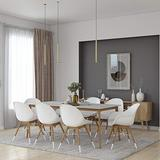 Brampton Set   Oak Finish   Ideal for Indoors, White Chairs