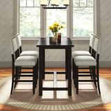 Andover Mills™ Ailey 5 - Piece Counter Heigh Breakfast Nook Dining Set Wood/Upholstered Chairs in Black/Brown, Size 36.3 H in | Wayfair