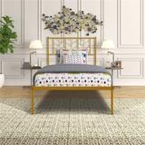 Latitude Run® Danzell Bed Frame Metal in Yellow, Size 39.37 H x 39.17 W x 75.78 D in | Wayfair 6767A691838A49E69E4165D682F1DF38