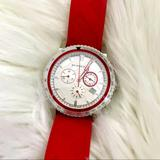 Burberry Accessories | Burberry City Sport Swiss Analog Quartz Red Strap | Color: Red/Silver | Size: Os