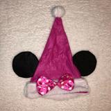 Disney Accessories   Disney Minnie Mouse Felt Santa Hat   Color: Pink   Size: Os