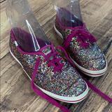 Kate Spade Shoes | Kate Spade Keds Glitter Bling Party Shoe Flats Fun | Color: Pink/Purple | Size: 6