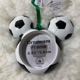 Disney Holiday | Disney Parks Soccer Mickey Mouse Ornament | Color: Black/White | Size: Os