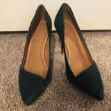 Madewell Shoes | Madewell Mira Heels (Worn Once) | Color: Green | Size: 9.5