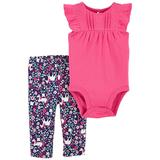 Baby Girl Carter's 2-Piece Floral Set, Infant Girl's, Size: Newborn, Pink