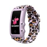 AUPALLA Kids Fitness Tracker Watch with Heart Rate Monitor Activity Tracker Exercise Pedometers for Step and Miles Sleep Tracker Alarm Clock Kids Teen Girl Boys Watch Gifts (Pink Leopard)