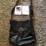 Coach Bags   Coach Purse! Black Leather With White Stitch!   Color: Black   Size: Os