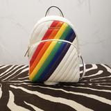 Michael Kors Bags | Michael Kors Abbey Medium Rainbow Backpack | Color: Gold/Red | Size: Os