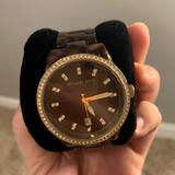 Michael Kors Accessories | Michael Kors Tortoise Watch With Gold Diamond | Color: Brown/Tan | Size: Os