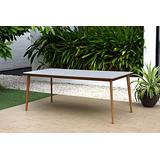 Midtown Concept Durham 1-Piece Rectangular Dining Table   Oak Finish   Ideal for Indoors