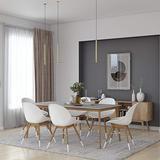 Midtown Concept Dillon 7-Piece Rectangular Dining Table Set   Oak Finish   Ideal for Indoors