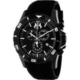 Ultimate Sports Chronograph Black Dial Black Silicone Watch - Black - Jivago Watches