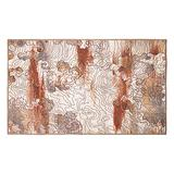 My Magic Carpet Machine Washable Accent Rug Vienna Abstract Natural 3X5