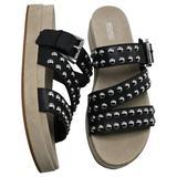 Michael Kors Shoes   Michael Kors Ansel Studded Leather Slide Sandal   Color: Black   Size: Various