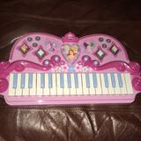 Disney Toys | Disney Musical Piano. Battery Operated. | Color: Pink | Size: Osbb