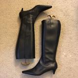 J. Crew Shoes | Jcrew Kitten Heel Knee High Boots | Color: Black | Size: 8