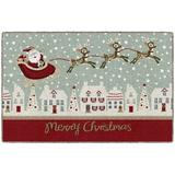 The Holiday Aisle® Merry Christmas Town Kitchen Mat Plastic in Gray, Size 0.3 H x 30.0 W x 46.0 D in   Wayfair A43CD5207A1343DFABF673BD00826F73