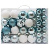 Joiedomi 50 Pcs Christmas Ornaments, Assorted Shatterproof Christmas Ornaments for Holidays, Indoor/Outdoor Party Decoration, Tree Ornaments, and Events (Blue&White)