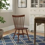 Three Posts™ Aubrianna Solid Wood Windsor Back Side Chair in Medium Wood in Brown, Size 34.0 H x 20.0 W x 24.0 D in | Wayfair