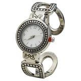 Blekon Collections Quartz Womens 29mm Antique Concho Bangle Watch (Silver)