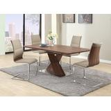 Modern Dining Set w/ Extendable Table & Chairs - Chintaly BETHANY-5PC