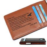 Minimalist Slim Metal Money Clip Front Pocket Bifold Wallet for Son from Mom - Mini Credit Card Holder - Personalized Custom Engraved Mens RFID Blocking Carbon Fiber Wallets for Birthday Christmas