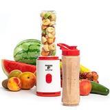 Moss & Stone Personal Blender Single Serve Shake & Smoothies Maker with Portable Travel Sport Bottle - Mini Juicer - Blender Bottle 20 oz (Red)