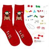 Soxland Design Your Own Ugly Christmas Pug Socks