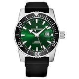 Revue Thommen Men's 17030.2524 'Diver' Green Dial Rubber Strap Swiss Automatic Watch