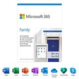 Microsoft 365 Family (6 PC or Mac Licenses/ 12-Month Subscription/ Product Key Card) (5-Users)