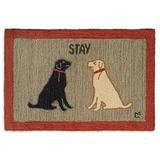 Chandler 4 Corners Artist-Designed Labs Staying Hand-Hooked Wool Accent Rug (2' x 3')