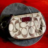 Coach Bags | Coach Small Wallet Credit Card Key Chain Wallet | Color: Brown/Tan | Size: Os