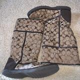 Coach Shoes   Coach Ugg Boots   Color: Brown/Cream   Size: 8.5