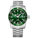 Revue Thommen Men's 17030.2134 'Diver' Green Dial Stainless Steel Swiss Automatic Watch