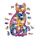 Jigsaw Puzzles138 Pieces Brain Teaser Cat Puzzles for Jigsaw Puzzles Unique Shape Animal Shaped Jigsaw Brain Teaser Cat Puzzles for Christmas Birthday,Family Game Play Collection(16x28cm/6.5x11.2in)