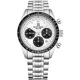 Revue Thommen Men's 17000.6132 'Aviator' Silver Dial Stainless Steel Chronograph Automatic Watch