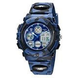 Kids Watches Boys Digital Watches Waterproof Outdoors Sport Watch Multifunction Electronic Watch for Teenagers with LED Light Alarm Stopwatch and Calendar Date Kids Children Wrist Watches Blue