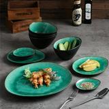 Rosecliff Heights Solem 11 Piece Dinnerware Set, Service for 4 Ceramic/Earthenware/Stoneware in Green | Wayfair F40FCD0E4F0745E8BDD6932BE0766E4E