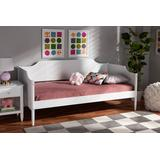 Baxton Studio Alya Classic Traditional Farmhouse White Finished Wood Twin Size Daybed - Wholesale Interiors MG0016-1-White-Daybed