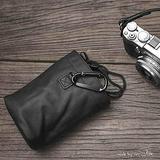 Genuine Leather Mini Small Camera Soft Bag Cover Case for Leica Sony Fujifilm Olympus Canon Nikon Mirrorless Digital Camera DC (M, Black)