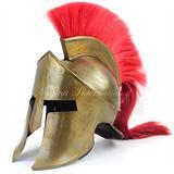 Medieval Armour King Leonidas Greek Spartan Roman Helmet   Spartan Legions Helmet   Men's Spartan Warrior Headwear Costume Accessories   300 Movie Authentic Replica Helmet Copper