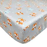 Brandream Fitted Crib Sheet for Baby Boys and Girls 100% Cotton Crib Sheet for Standard Crib and Toddler Mattresses, Cute Fox