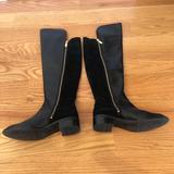 Michael Kors Shoes | Michael Kors Black Knee-High Leather Boots | Color: Black | Size: 7.5