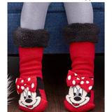 Disney Shoes | Nwt Disney Minnie Mouse Cozy Warmers For Kids! | Color: Black/Red | Size: 7.5 - 3.5