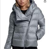 Nike Jackets & Coats | Nike Puffer Down Coat Grey Coat Asymmetric Jacket | Color: Gray | Size: Xs